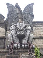 Gargoyle 1, Exterior of Eastern State Penitentiary, 2006.JPG
