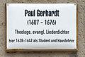 Gedenktafel Collegienstr 6 (Wittenberg) Paul Gerhardt.jpg