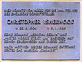Gedenktafel Nollendorfstr 17 (Schönb) Christopher Isherwood.JPG