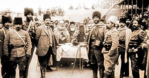 Drastamat Kanayan - General Dro, third from the right, leading the second battalion in 1915
