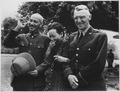 Generalissimo and Madame Chiang Kai Shek and Lieutenant General Joseph W. Stilwell, Commanding General, China... - NARA - 531135.tif
