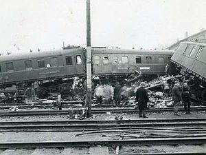 Genthin rail disaster - Crash scene