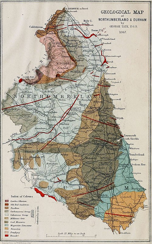 Geological Map of Northumberland and Durham 1867.jpg