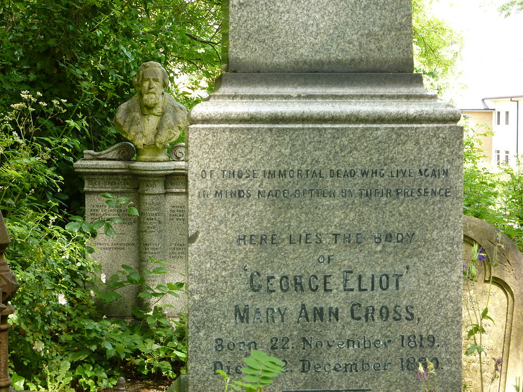 George Eliot's gravestone in Highgate Cemetery