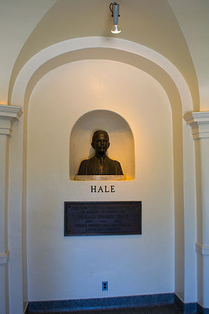 George Ellery Hale - A bust of George Ellery Hale at Palomar Observatory