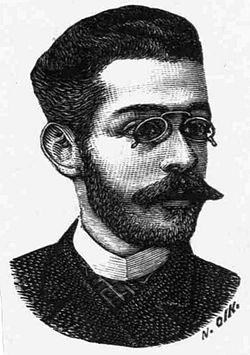 Σκίτσο του Γεώργιου Δροσίνη από περιοδικό του 1889