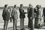 Gerald Ford deplaning at Patrick Henry Airport before third debate15.jpg