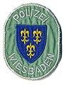 Germany - Stadt Polizei Wiesbaden (white on light green) (defunct 1974) (5416463121).jpg
