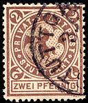 Germany Stuttgart 1886 local stamp - 2 used (2).jpg