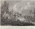 Gevechten bij Schoorldam, 1799 Het Repouseeren Van een Engelsche Patrouille door Bataavsche Jagers, buiten Schoorldam (titel op object) Vier platen over de Engels-Russische inval (serietitel), RP-P-OB-86.721.jpg