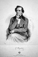 Giacomo Meyerbeer by Josef Kriehuber, 1847 (Source: Wikimedia)