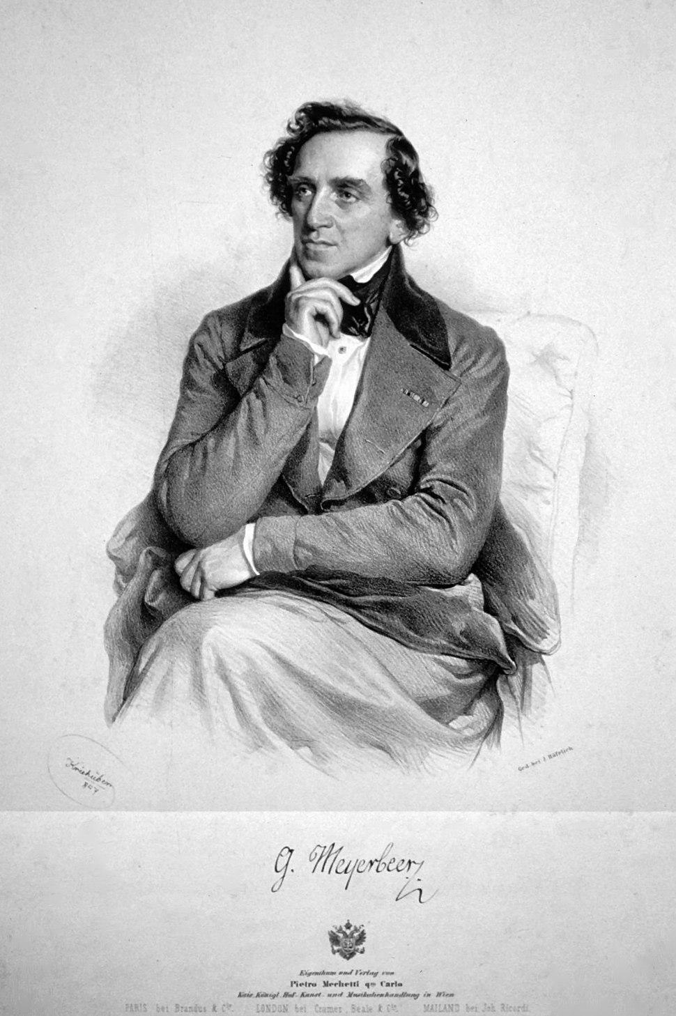 Giacomo Meyerbeer Kriehuber