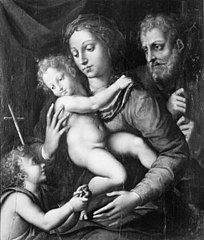 The Holy Family, St John with a small Bird in his Hand