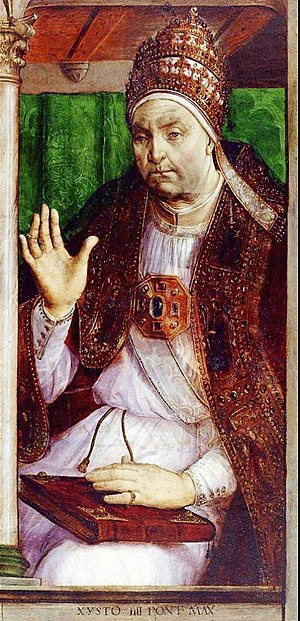 Della Rovere - Image: Giusto di gand, sisto IV, louvre