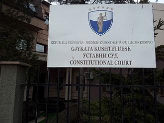 Constitution of Kosovo - Image: Gjykata Kushtetuese