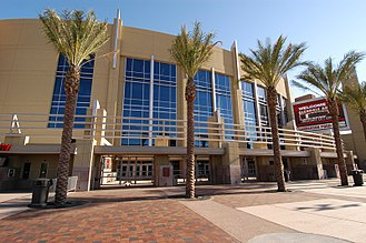 Phoenix Coyotes bankruptcy and sale - Gila River Arena, formerly known as Jobing.com Arena, home of the Coyotes. The lease agreement of the Arena was cited as one reason for the failure of the franchise.
