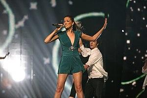 Karolina Gočeva - Gočeva representing Macedonia in Helsinki, 2007