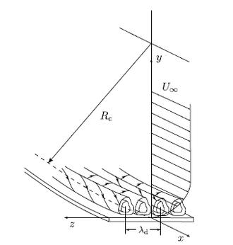 Görtler vortices - Görtler vortices in a boundary layer