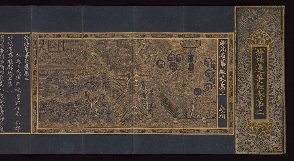 File:Goryeo-Illustrated manuscript of the Lotus Sutra c.1340.jpg ...