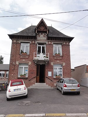 Gouy, Aisne - The town hall of Gouy