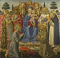 Gozzoli - The Virgin and Child Enthroned among Angels and Saints, 1461-2.jpg