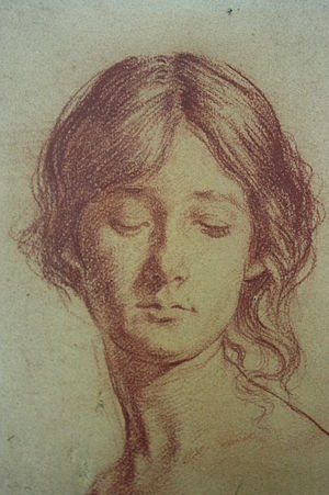 Augustus John - Chalk drawing of Grace Westry by Augustus John 1897