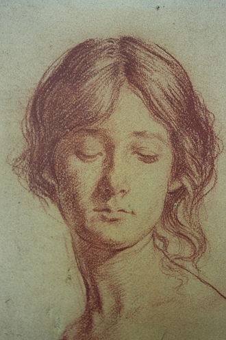 Augustus John - Chalk drawing of Grace Westry by Augustus John 1897