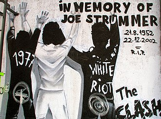 The Clash - Graffiti commemorating Joe Strummer.