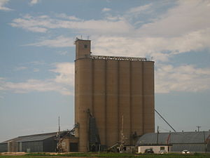 Claude, Texas - A large grain elevator in Claude, Texas