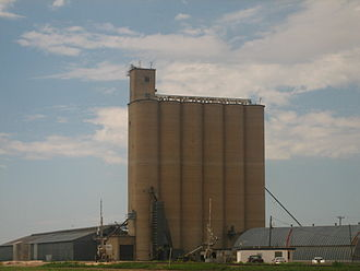 Claude, Texas - A large grain elevator in Claude, Texas