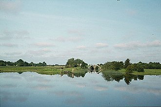 The Grand Canal extended across the River Shannon with a branch to Ballinasloe Grand Canal Ballinasloe branch - geograph.org.uk - 585674.jpg