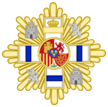 Grand Cross of the Military Merit (Spain) - Blue Decoration.svg