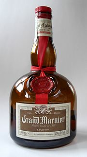 photograph of a bottle of Grand Marnier liqueur courtesy of Wikipedia