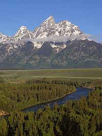 Río Snake en el Parque Nacional de Gran Teton