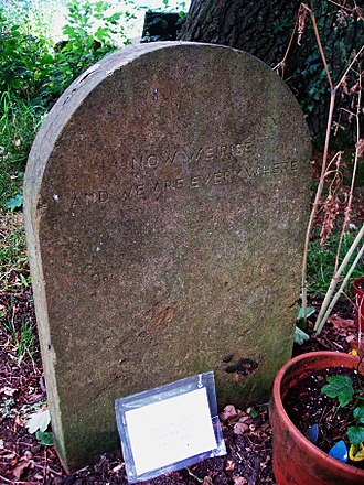 Nick Drake - The grave where Drake's ashes are buried with those of his parents.