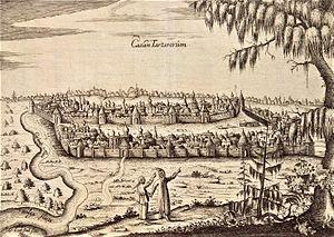 Adam Olearius - Olearus' image of Kazan.