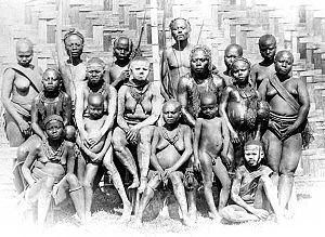 Andamanese - Great Andamese women, 1876