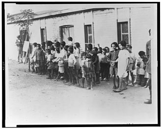 Armenia–Greece relations - Greek and Armenian refugee children outside barracks near Athens in 1923, following their expulsion from Turkey