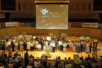 2008 Green National Convention - On stage at the Symphony Center after Cynthia McKinney accepted the presidential nomination