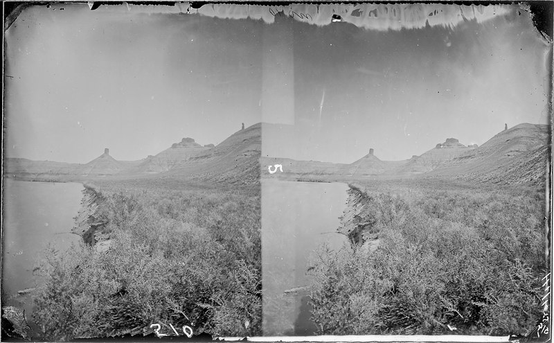 File:Green River, above Flaming Gorge. Old nos. 424, 279, 58. Beaman photo, 1871. - NARA - 517844.tif