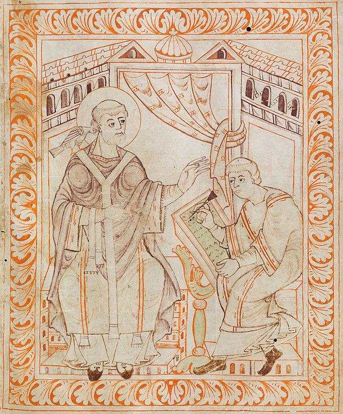 Gregory I - Antiphonary of Hartker of Sankt Gallen
