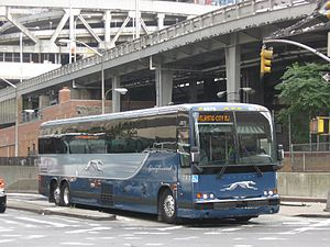 Greyhound Lines - Greyhound Lines Prevost X3-45 in New York City in August 2009