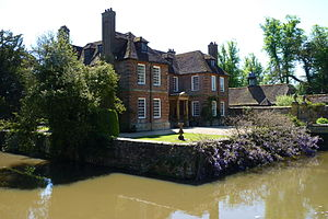 Groombridge Place - A view showing the moat