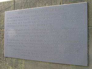 James Trubshaw - Image: Grosvenor Bridge Chester Inscription