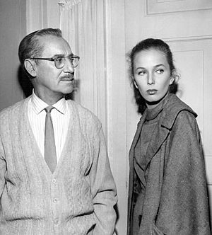 """Brooke Hayward - Hayward and Groucho Marx in the General Electric Theater presentation of """"The Hold Out"""", 1961"""