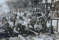 Group of a Soviet's employees, Saturdays voluntary work (June 1920) (14335816422).jpg