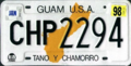 Guam license plate 1994 CHP 2294.png
