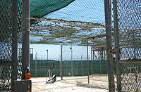 Recreation yard at Guantánamo