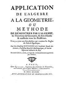 Guisnée - Application de l'algebre a la geometrie, 1733 - 1462541.jpg