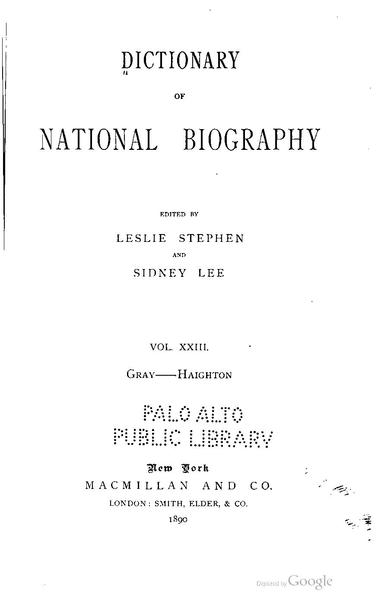 dictionary of national biography online